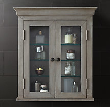 Annecy Metal-Wrapped Wall Mount Cabinet