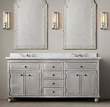 Annecy Metal-Wrapped Double Vanity Sink