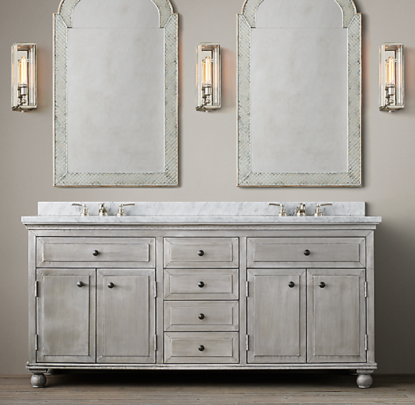 annecy metal wrapped double vanity. Black Bedroom Furniture Sets. Home Design Ideas