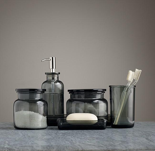 Pharmacy Smoke Glass Bath Accessories