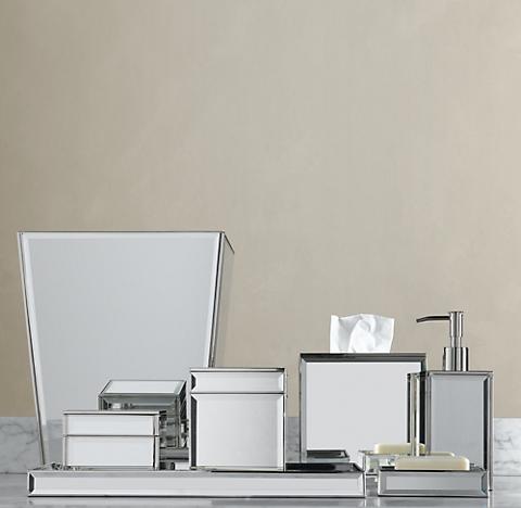 Mirrored Bath AccessoriesCountertop Accessories   RH. Bathroom Countertop Accessories Sets. Home Design Ideas