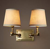 20TH C. Parisian Telescoping Double Sconce