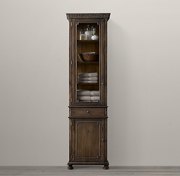 St james tall bath cabinet - Restoration hardware cabinets ...