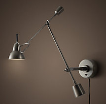 Counterpoise Swing-Arm Sconce