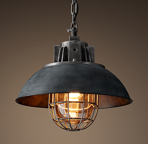 Orb Chandelier Light 14 Atomic Light Fixture Industrial: European Factory Caged Pendant