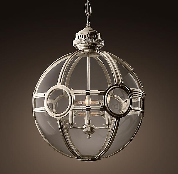 19th c victorian globe pendant