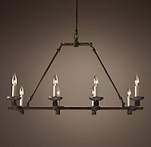 Cabot Rectangular Chandelier 36""