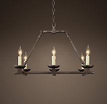 Cabot Rectangular Chandelier 26""