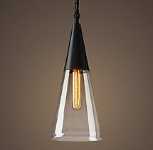 Mason Glass Cone Filament Pendant