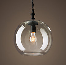 Mason Glass Globe Filament Pendant