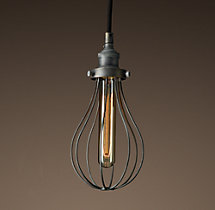 Teardrop Wire Filament Single Pendant