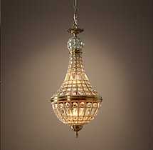 19th C. French Empire Crystal Chandelier 14""