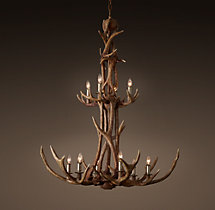 Adirondack Antler Two-Tier Chandelier