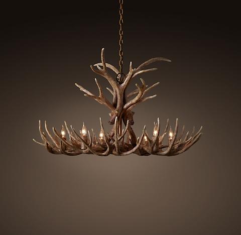 Aspen antler chandelier collection rh more finishes aloadofball Images