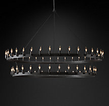 Camino Vintage Candelabra Two-Tier Chandelier 72""
