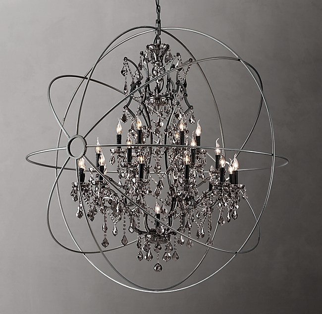Orb Smoke Crystal Chandelier 60
