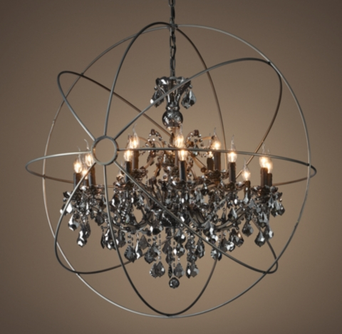 "Foucault's Orb Smoke Crystal Chandelier 44"". San Diego Architects. Behind Sofa Table. Tv Dresser. Elizabeth Garage Doors. White Bedroom. Manuel Builders. Vegetable Sink. Furniture Outfitters Boise"