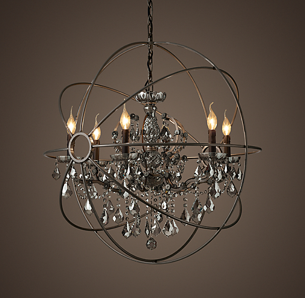 Foucault S Orb Smoke Crystal Chandelier 32 Quot