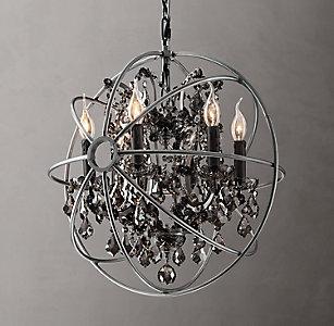 All ceiling rh foucaults orb smoke crystal chandelier 21 aloadofball Gallery