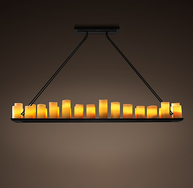 Candle Rectangular Chandelier 70
