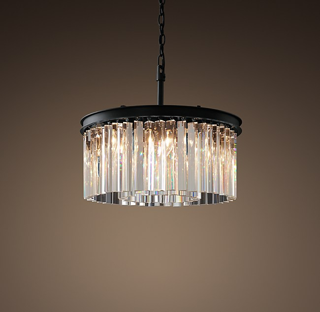 Rhys clear glass prism round chandelier 20 aloadofball Gallery