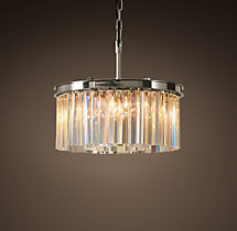 Rhys Clear Glass Prism Round Chandelier 20""