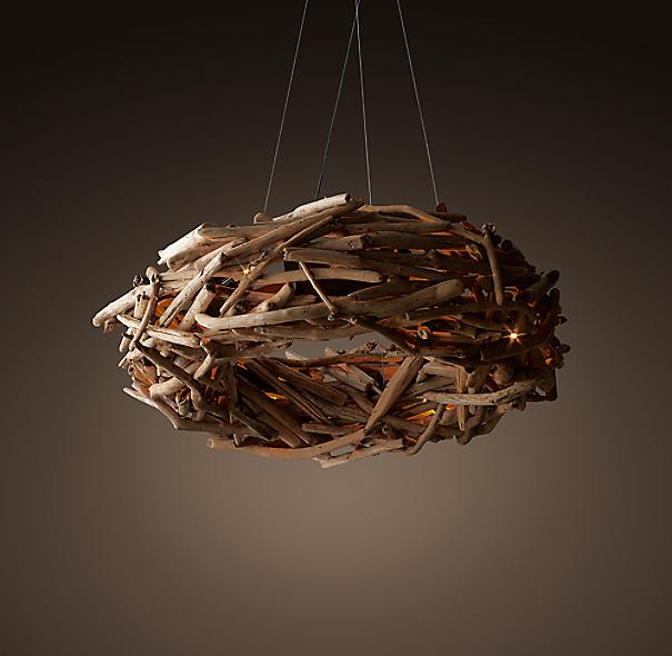 Salvaged Driftwood Ring Chandelier 40 – Driftwood Chandelier