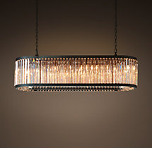 Welles Clear Crystal Rectangular Chandelier 60""