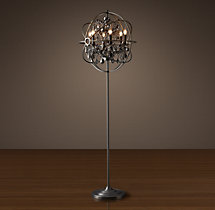 Foucault's Orb Smoke Crystal Floor Lamp