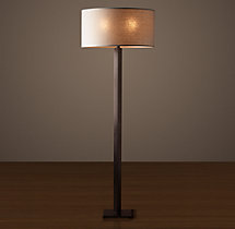 Hexagonal Column Floor Lamp