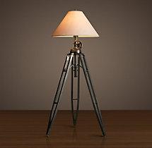 Marine Tripod Floor Lamp:Royal Marine Tripod Floor Lamp,Lighting
