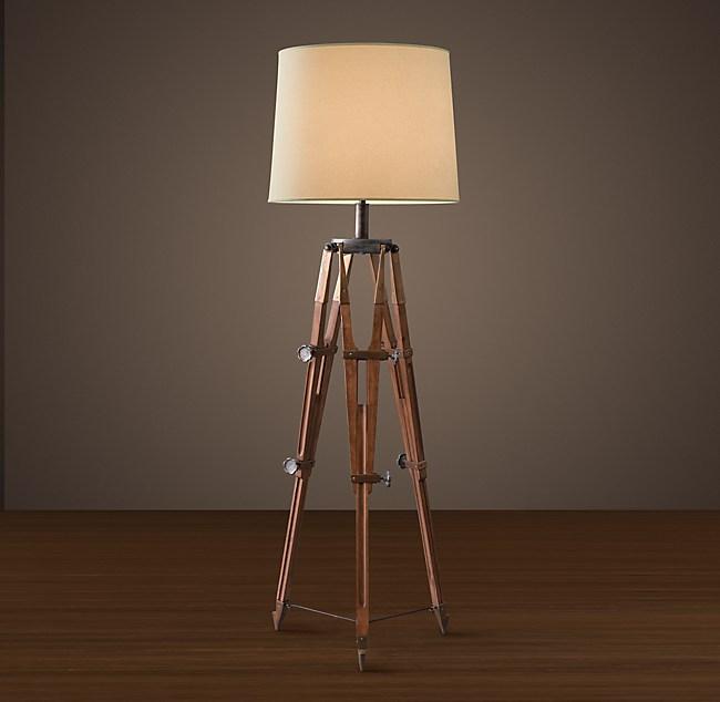 Surveyor\'s Tripod Floor Lamp