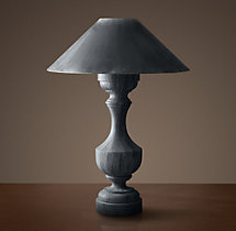 19Th C. French Empire Table Lamp with Zinc Shade