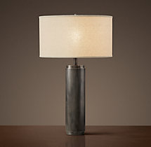 Cylindrical Column Table Lamp