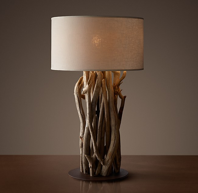 Driftwood table lamp salvaged driftwood table lamp mozeypictures Image collections