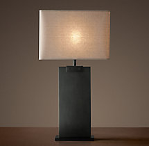 Rectangular Column Table Lamp