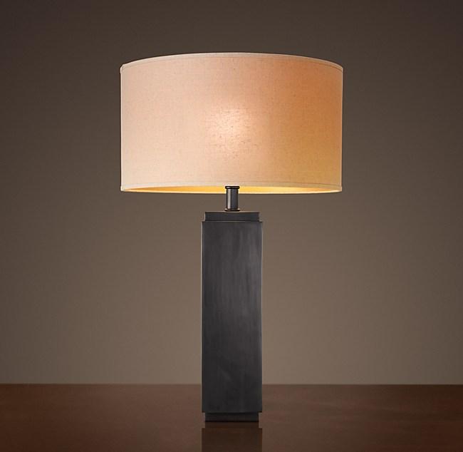Square column table lamp aloadofball Images