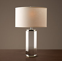 Hexagonal Column Crystal Accent Lamp