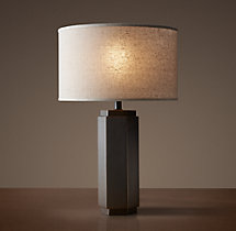 Hexagonal Column Accent Lamp - Bronze