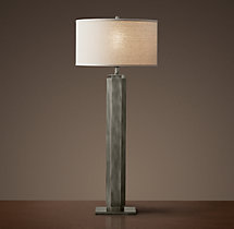 Hexagonal Column Buffet Lamp