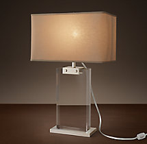 Rectangular Column Crystal Accent Lamp