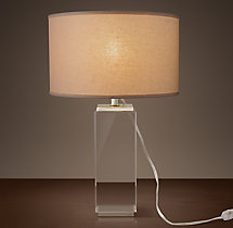 Square Column Crystal Accent Lamp