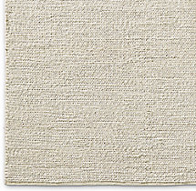 Braided Wool Rug Swatch - Cream