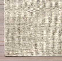 Knotted Jute Rug Swatch - Cream