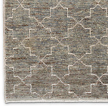 Moroccan Star Rug Swatch - Charcoal