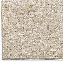 Moroccan Star Rug Swatch - Cream