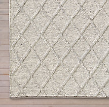Braided Diamante Rug Swatch - Fog