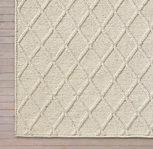 Braided Diamante Rug Swatch - Cream