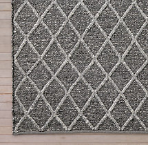 Braided Diamante Rug Swatch - Graphite/Fog
