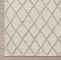 Braided Diamante Rug Swatch - Cream/Fog